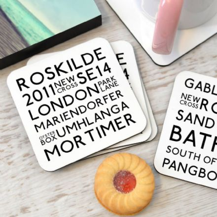 Personalised Favourite Memories Coasters